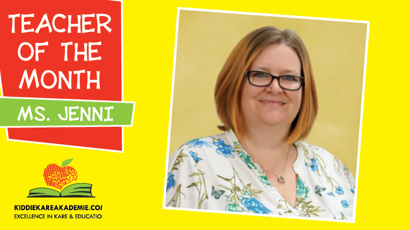 April Teacher of the Month: Ms. Jenni